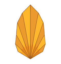 Origami leaf icon cartoon style vector