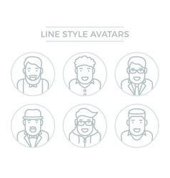 People Line Avatars vector