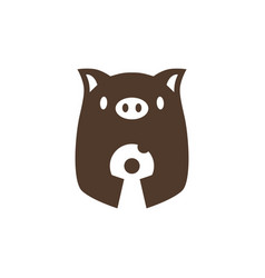 pig donuts logo icon vector image