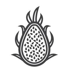Pitaya line icon dragon fruit and tropical vector