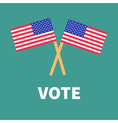 President election day Voting concept Two crossed vector