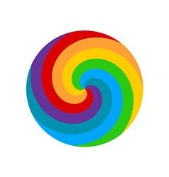 Rainbow round spiral circle background Lollipop vector