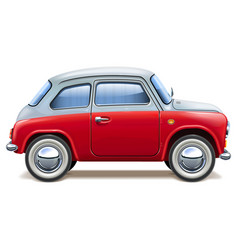 Red toy car vector