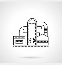 Refinery plant flat line icon vector