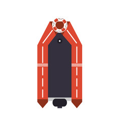 Rescue boat icon vector