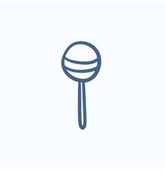 Round lollipop sketch icon vector image