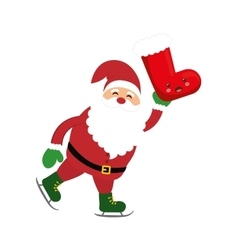 Santa cartoon of Merry Christmas design vector image