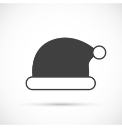 Santa claus hat icon flat vector