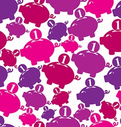 Seamless backdrop with a piggybank symbol vector image