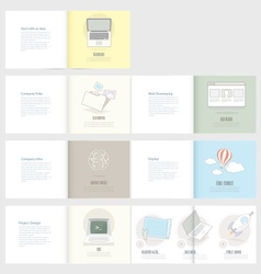 Set of Flyer Brochure Design Templates for Busine vector image