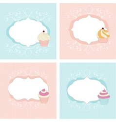 Set of greetings cards vector image vector image