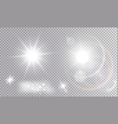 Set of various light effects vector
