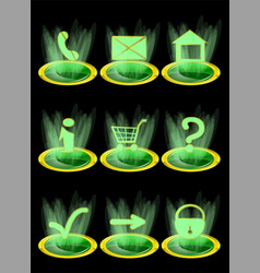 set of website icons vector image