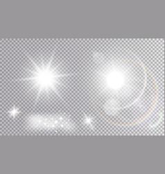 Set various light effects vector