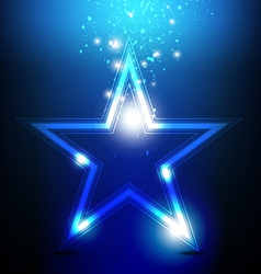 Shiny star celebration vector