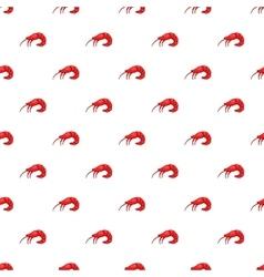Shrimp pattern cartoon style vector