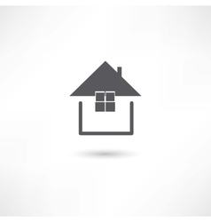 simple house symbol vector image