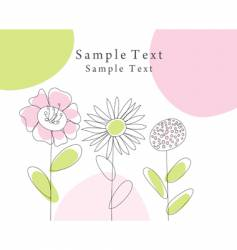 sketch greeting card vector image