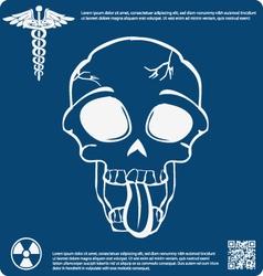Skull X ray 14 vector