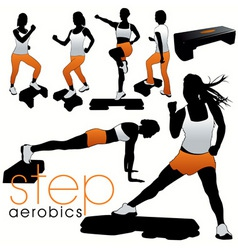 step aerobics vector image vector image
