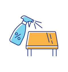 Tabletop cleaning rgb color icon vector