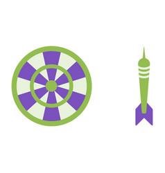 target and dart flat icons darts vector image