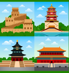 Travel to china vector