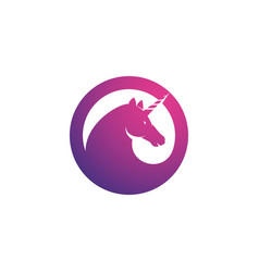 unicorn logo icon vector image