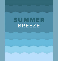 unique artistic summer card with bright gradient vector image