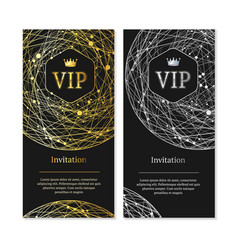 vip invitation and card set vector image