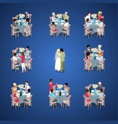 wedding ceremony isometric vector image