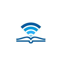 Wireless book logo icon design vector