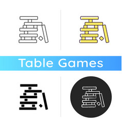 Wooden blocks game icon vector