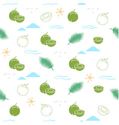 young coconut seamless pattern background vector image