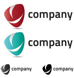 a very modern fresh and trendy logo for your compa vector image vector image
