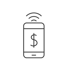 mobile pay icon vector image vector image