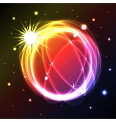 Neon light path vector image