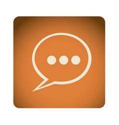 orange emblem chat bubble icon vector image
