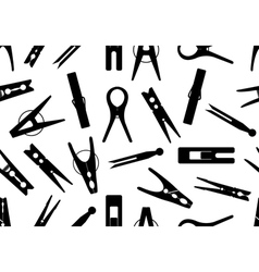 Seamless clothespin background vector image vector image