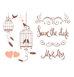set design elements for wedding vector image