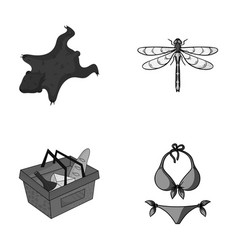 Shop prehistoric and other monochrome icon in vector