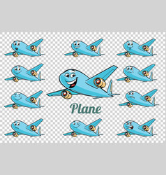 airplane plane airliner aviation emotions vector image vector image