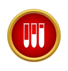 Chemical test tube icon simple style vector image