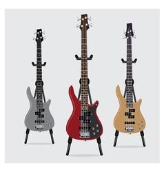 Electric Bass Guitar set vector image