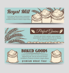 premium mill product banners template vector image vector image