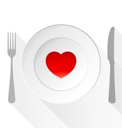 Valentine Love Plate vector image vector image