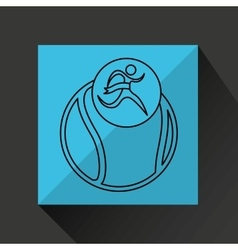 winner silhouette sport tennis icon vector image