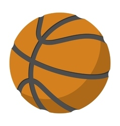 Basketball single cartoon vector image