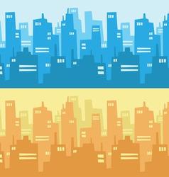 City Skyscraper Silhouette Background vector image