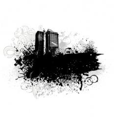 grunge city design vector image vector image